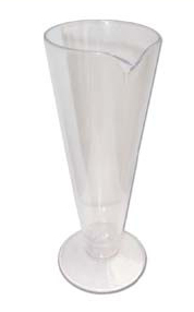 URINE TEST PLASTIC CONICAL JAR 175ML
